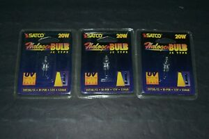 Lot Of 3 Satco 20w Halogen Bulbs~JC Type~20T3Q/CL~12v~S3468~FAST SHIPPING!