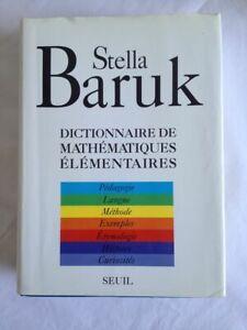 Dictionnaire de mathématiques élémentaires de Stella Baruk | Fort volume | Toile