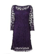 New Phase Eight Purple Plum Emily Tapework Dress Sz UK 8 rrp £120