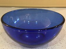 Quality Collectible Cobalt Blue Glass Bowl - Made in Mexico - MORE AVAILABLE
