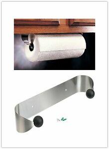 Paper Towel Holder Under Cabinet Wall Mount Steel Rack Kitchen