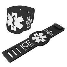 TUFF LUV ICE BikeBand I.C.E. Safety Emergency Contact Info Bike/Cycle -  Black