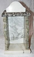 ANTIQUE MARBLE RELIGIOUS ICON DISPLAY SHRINE BOX