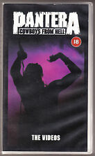 PANTERA - COWBOYS FROM HELL - CERT 18 - VHS PAL (UK) VIDEO - RARE