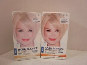 2 CLAIROL BORN BLONDE MAXIMUM BLONDING ALL SHADES FROM BLONDE TO BLACK MM 19888