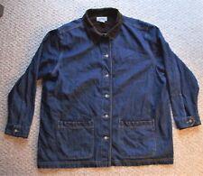 Cabin Creek Women's Denim Jean Jacket Size 2X 100% Cotton Corduroy Trim