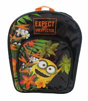 Minions 'Bob' Arch Pocket School Bag Rucksack Backpack Brand New Gift