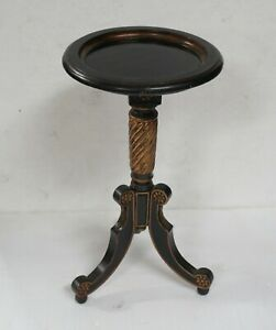 Vintage Small Gilt and lacquered wood Guéridon table