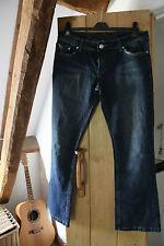 ' Authentic Denim' Ladies Blue Jeans /Trousers Stretch Size 14