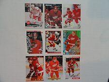 Vladimir Konstantinov 1991/92  Rookie Card 9 Card Lot Detroit Red Wings