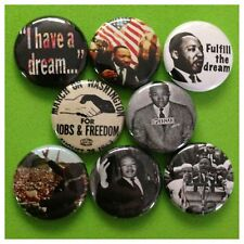"MARTIN LUTHER KING JR 1"" buttons pinbacks BLACK HISTORY"