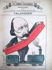 ALFRED TALANDIER DéPUTé DE SEINE CARICATURE GILL LES HOMMES D'AUJOURD'HUI 1878