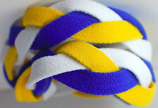 NEW! Royal Blue Yellow White Grippy Band Headband Hair Sport Soccer Softball