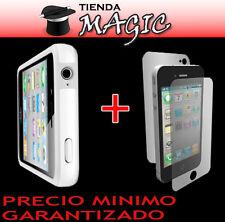 BUMPER compatible iPhone 4 + laminas PROTECTOR DE PANTALLA carcasa funda BLANCO
