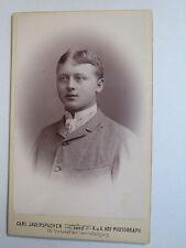 Gmunden OÖ - 1892 - Mann im Anzug - Portrait / CDV