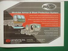 2/2006 PUB CERADYNE SYSTEMS ARMOR & BLAST PROTECTION SYSTEM US ARMY TRUCK AD