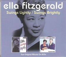 ELLA FITZGERALD SWINGS LIGHTLY / SWINGS BRIGHTLY - 2 CD BOX SET