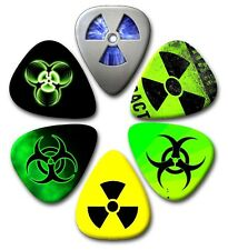 6 Bio~Nuclear Guitar Picks ~ Plectrums  ~ Printed Both Sides