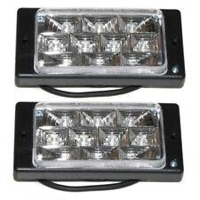 2x 10 LED White Fog Spot Lights Lamps For VW Volkswagen Golf Passat Polo Caddy