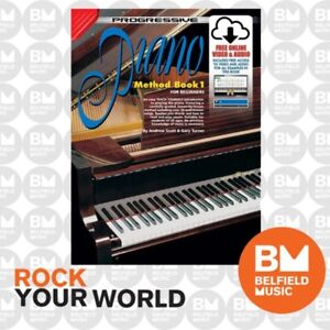 Progressive 72626 Piano Method Book 1 for Beginners Learning Tuition KPPM1CP