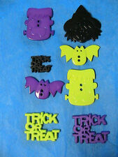 LOT OF 8 HALLOWEEN MIXED witch-bat FLATBACK~2-hole BUTTONS sew~scrapbook~crafts