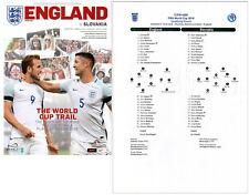 England v Slovakia 4/9/2017 Programme plus free colour teamsheet