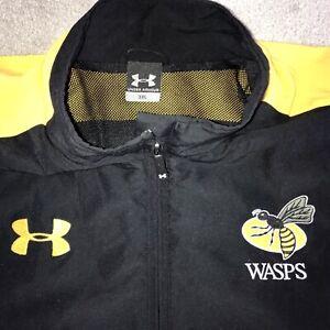Wasps Under Armour Rugby Jacket / Top - Mens 3XL - Zip Pockets, Waist Adj. Cord