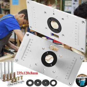 ALU Befestigungsplatte Einlegeplatte Frästisch Bosch Router Frästisch Oberfräse
