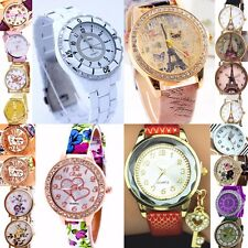 Ladies,Mens Watches with Numbers & Pictures or Designs Analog Quartz Wrist Watch