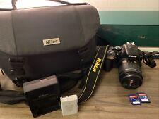 Nikon D5600 DIGITAL SLR Camera Black 18-55mm LENS USED with ACCESORIES