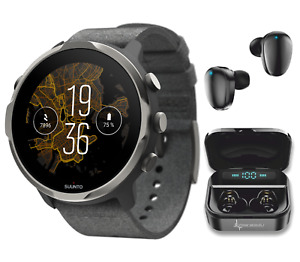SUUNTO 7 Graphite Limited Edition GPS Sports Smartwatch and EarBuds Power Bundle