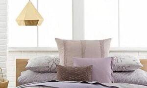 Calvin Klein Home Euro Sham  Mesa Banded Wave Cotton Mauve