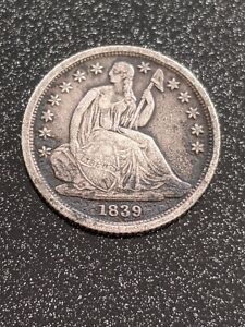 1839-O New Orleans Mint Silver Seated Liberty Dime Ch VF++/XF