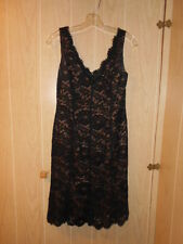 Anne Klein BLACK LACE Floral Party Formal Cocktail Dress, Reg. SIZE 6
