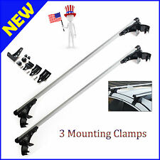"""For Saab 9-3 Subaru Impreza Roof Rack Top Luggage and so on 48"""" 3 Clamps 2Pcs"""