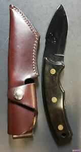 """RARE! Schrade Ducks Unlimited Collectable Hunting Knife Sheath 3.5"""" Fixed Blade"""