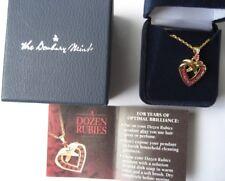 THE DANBURY MINT Herzkette DOZEN RUBIES ungetragen in Geschenkpackung