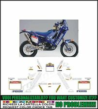 kit adesivi stickers compatibili  660 rally dakar gauloises