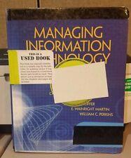 Managing Information Technology by William C. Perkins, Jeffrey A. Hoffer, Daniel
