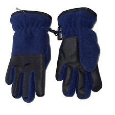 Boy's Navy Blue Fleece Gloves