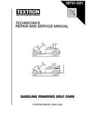 EZ Go E-Z-GO 2001-2007 Gas Freedom Fleet Shuttle Golf Cart service manual on CD
