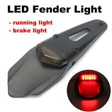 Universal Motorcycle Enduro Trial Dirt Bike Fender LED Stop Rear Tail Light 12V