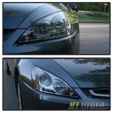 Smoked 03-07 Honda Accord Dual Halo Projector Led Headlights Lights Left+Right
