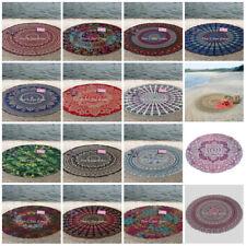 Mandala Bohemian Round Beach Hippie Tapestry Throw Yoga Mat Towel Indian Blanket