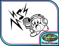 Kirby Nintendo Music R Vinyl Sticker Poster Wall Laptop Console Car Window Decal