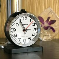 RAKETA Alarm Clock Mini Desktop Soviet Interior Mechanical USSR Quality Rare 80s