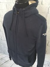Abercrombie & Fitch Mens Sherpa Lined Hoodie Jacket Navy Blue Sz M 2016 EUC