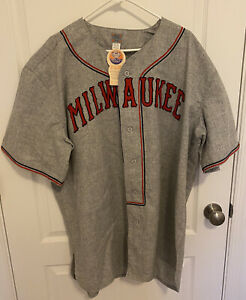Ebbets Field Flannels 1936 Milwaukee Road Authentic Jersey Size XXL