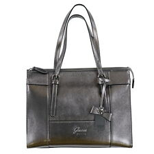 Guess Womans Shoulder Bag Purse Crossgrain Zip Top Bling Charms Metallic Nwt New