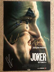 JOKER Joaquin Phoenix Signed Movie Poster Autograph 293X430MMlimited edition